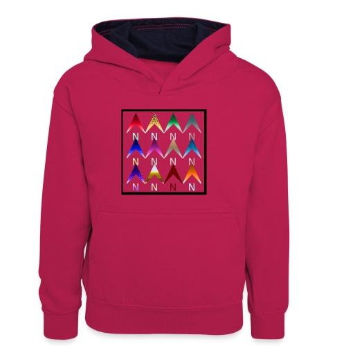 Noordpijlen - Teenager contrast-hoodie/kinderen contrast-hoodie