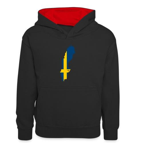 Sweden - Teenager contrast-hoodie/kinderen contrast-hoodie