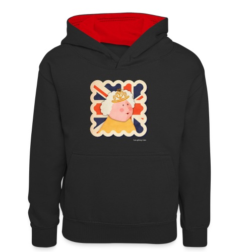 The Queen - Kids' Contrast Hoodie