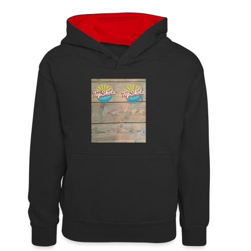 TenSlippers - Teenager contrast-hoodie/kinderen contrast-hoodie