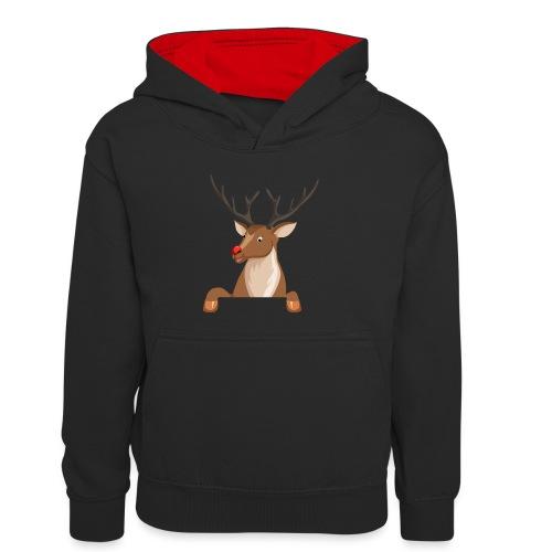Caribou 6 - Sweat à capuche contrasté Enfant