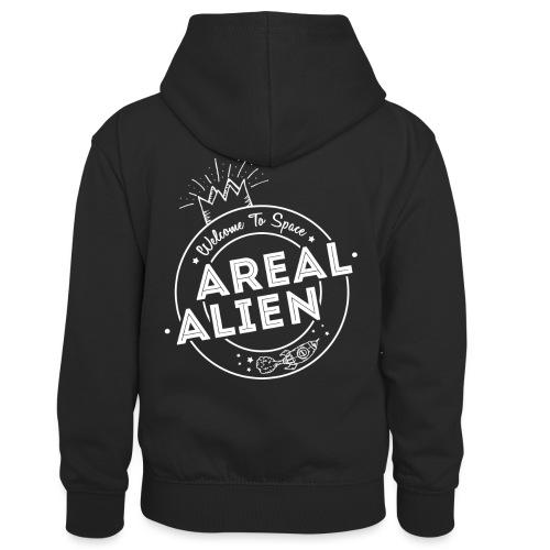 Alien - Hipster Logo Design - Kontrast-hettegenser for barn