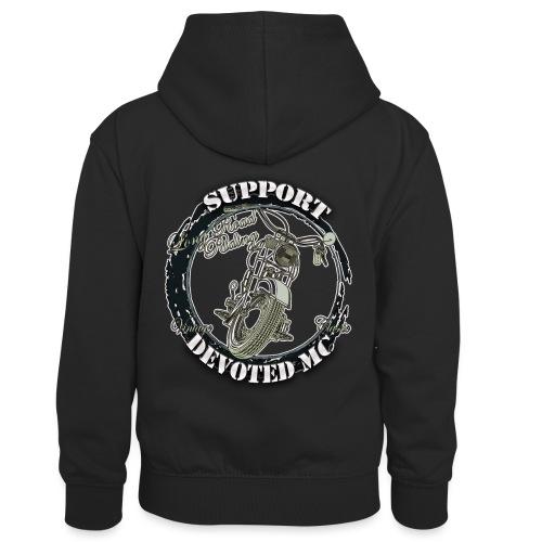 T-Shirt DEVOTEDMC SUPPORTSHOP10007 - Kontrast-hettegenser for barn