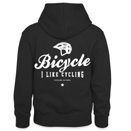 bicycle - Dziecięca bluza z kontrastowym kapturem