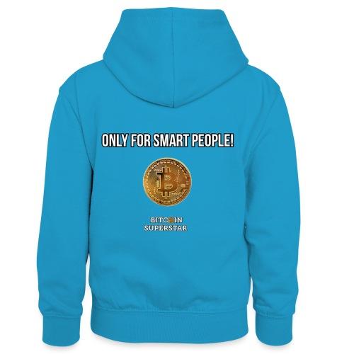 Only for smart people - Felpa con cappuccio in contrasto cromatico per bambini