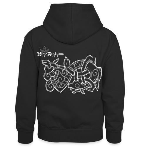 Regia TShirt Worm Clearbackground white - Kids' Contrast Hoodie