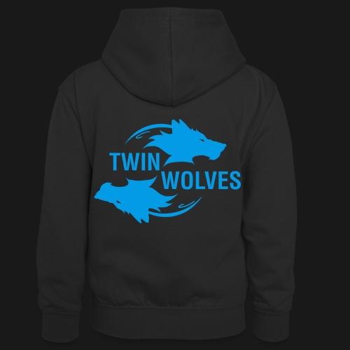 Twin Wolves Studio - Felpa con cappuccio in contrasto cromatico per bambini