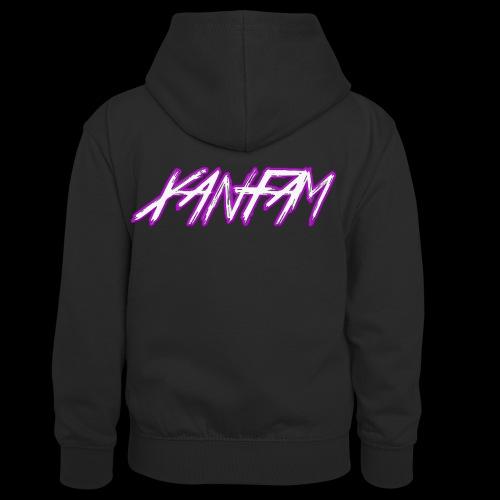 XANFAM (FREE LOGO) - Kinder Kontrast-Hoodie