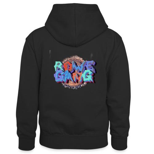 RoweGang Basic Logo - Lasten kontrastivärinen huppari