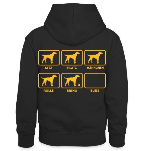 Für alle Hundebesitzer mit Humor - Kinder Kontrast-Hoodie