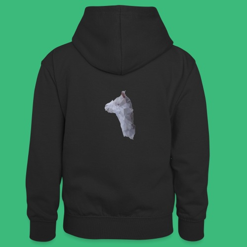 Lama KristalArt / alle kleuren - Teenager contrast-hoodie/kinderen contrast-hoodie