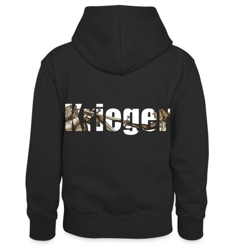 krieger - Kinder Kontrast-Hoodie