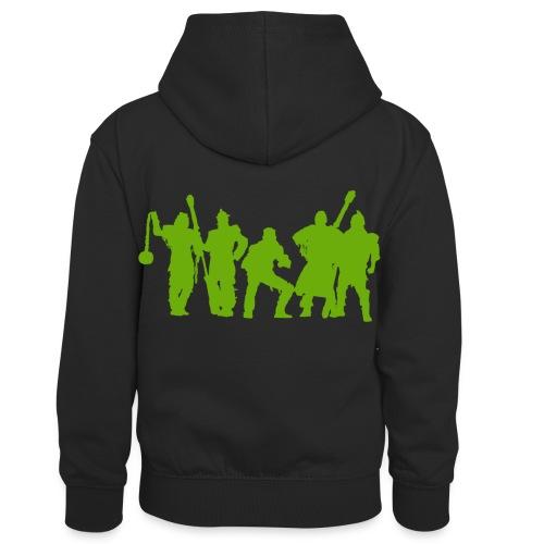 Jugger Schattenspieler gruen - Kinder Kontrast-Hoodie