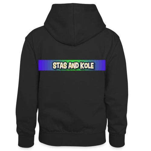 Shirt Logo - Kids' Contrast Hoodie