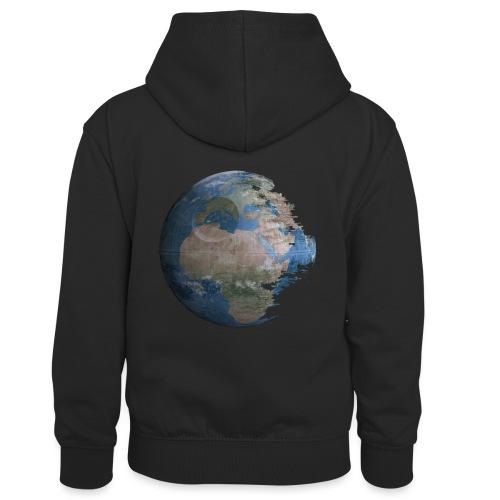 Death Earth - Sweat à capuche contrasté Enfant