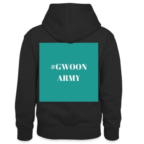 #gwoonarmy - Teenager contrast-hoodie/kinderen contrast-hoodie