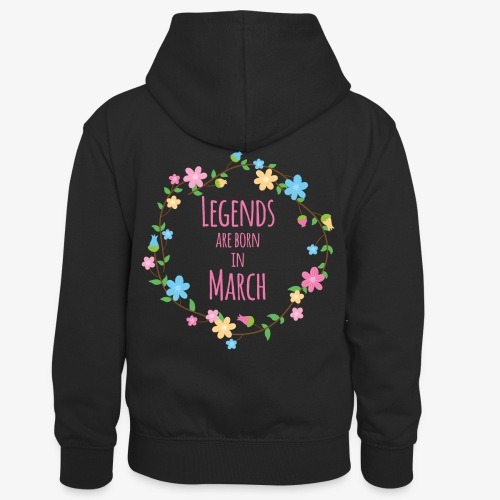 Legends are born in March - Kids' Contrast Hoodie