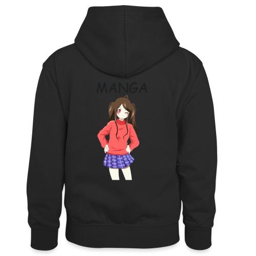 Anime girl 02 Text Manga - Kinder Kontrast-Hoodie