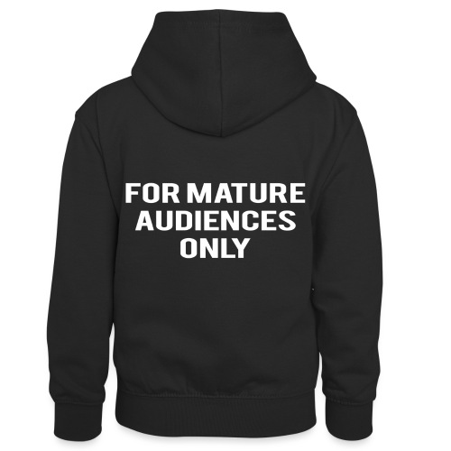 For Mature Audiences Only - Kids' Contrast Hoodie