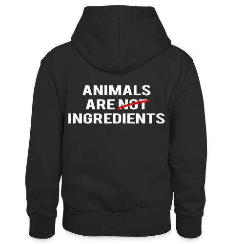 Animals Are Ingredients - Kids' Contrast Hoodie