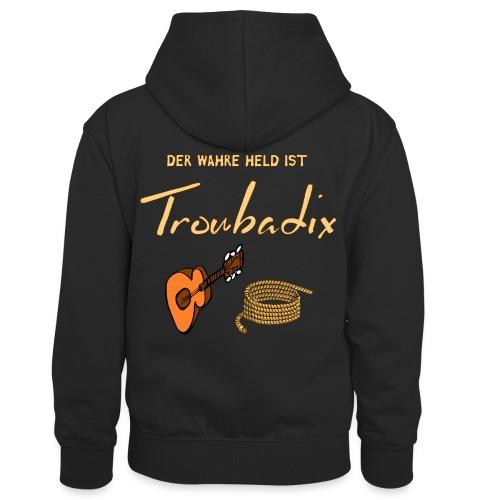 Der wahre Held ist Troubadix - Kinder Kontrast-Hoodie