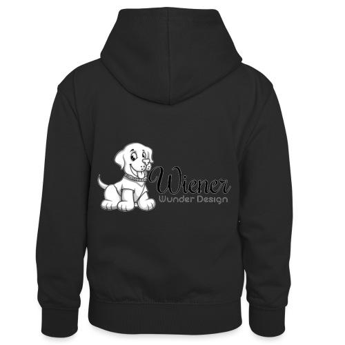 Wiener Wunder Hund - Kinder Kontrast-Hoodie