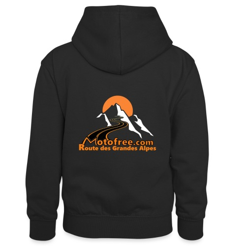 logo motofree orange - Sweat à capuche contrasté Enfant