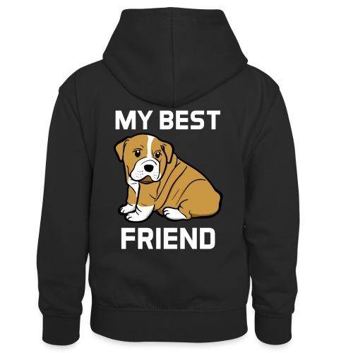 My Best Friend - Hundewelpen Spruch - Kinder Kontrast-Hoodie
