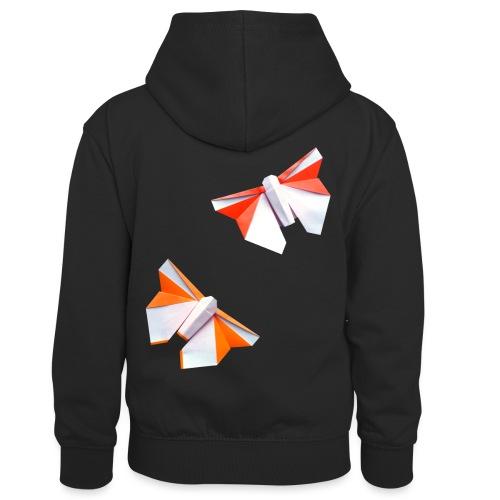 Butterflies Origami - Butterflies - Mariposas - Kids' Contrast Hoodie