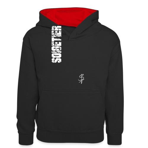 logo st - Kinder Kontrast-Hoodie