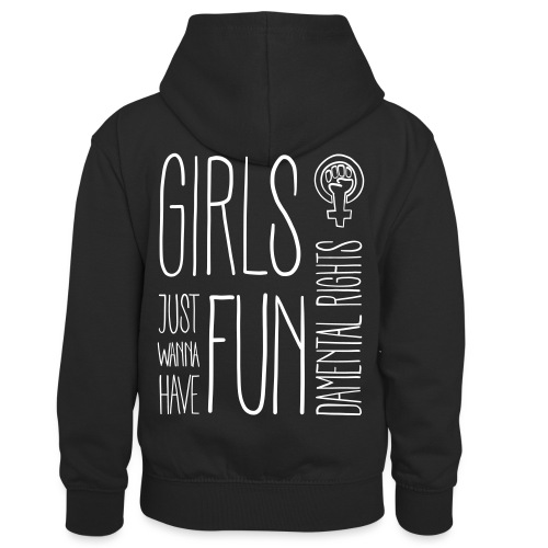 Girls just wanna have fundamental rights - Kinder Kontrast-Hoodie