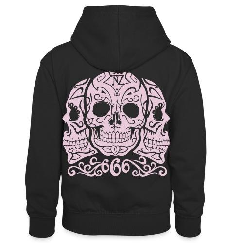 Skull Dia de los muertos - Sweat à capuche contrasté Enfant