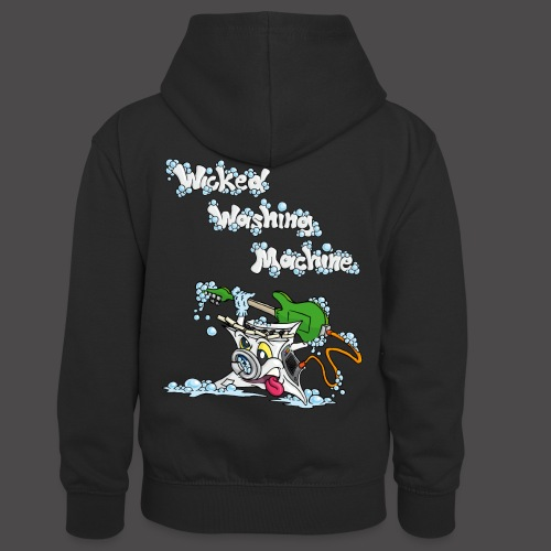 Wicked Washing Machine Cartoon and Logo - Teenager contrast-hoodie/kinderen contrast-hoodie