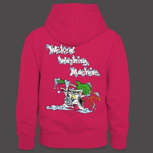 Wicked Washing Machine Cartoon and Logo - Teenager contrast-hoodie/kinderen contrast-hoodie