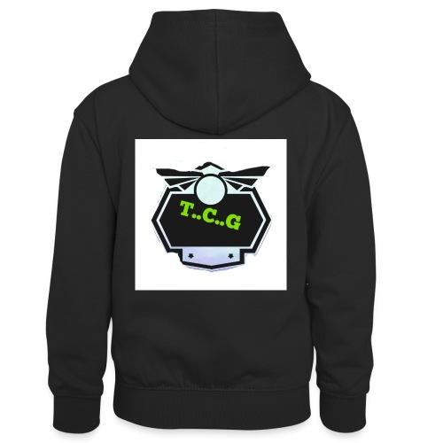 Cool gamer logo - Kids' Contrast Hoodie