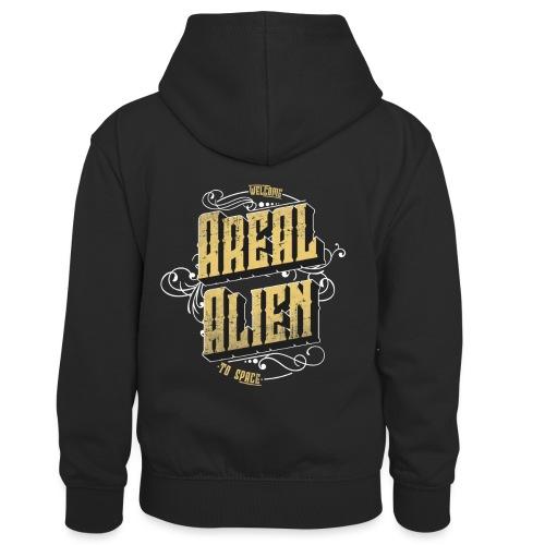 Areal Alien Vintage logo - Kontrast-hettegenser for barn