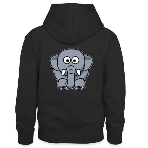 Olifantje - Teenager contrast-hoodie/kinderen contrast-hoodie