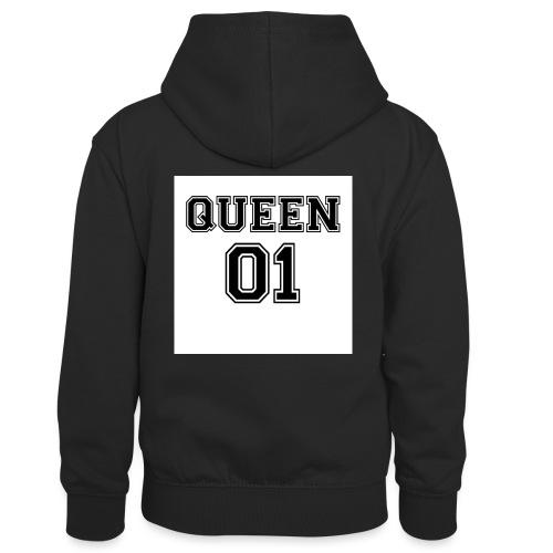 Queen 01 - Sweat à capuche contrasté Enfant