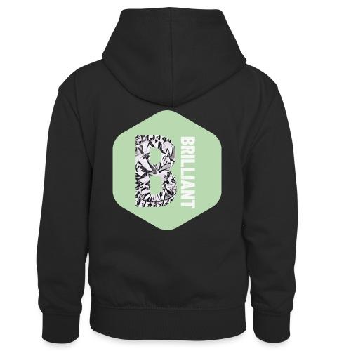 B brilliant green - Teenager contrast-hoodie/kinderen contrast-hoodie