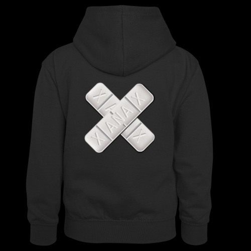 Xanax X Logo - Kinder Kontrast-Hoodie
