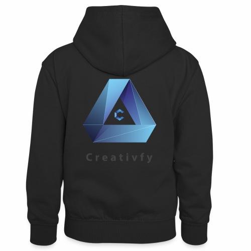 creativfy - Kinder Kontrast-Hoodie