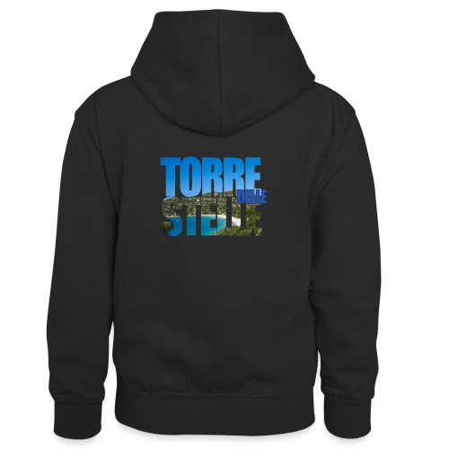 TorreTshirt - Felpa con cappuccio in contrasto cromatico per bambini