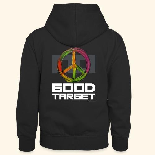 NO - GOOD TARGET is PEACE - Teenager contrast-hoodie/kinderen contrast-hoodie