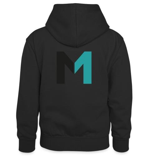 Logo M - Kinder Kontrast-Hoodie
