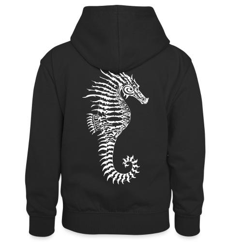 Alien Seahorse Invasion - Kids' Contrast Hoodie