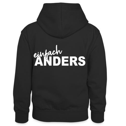 einfach ANDERS - Kinder Kontrast-Hoodie