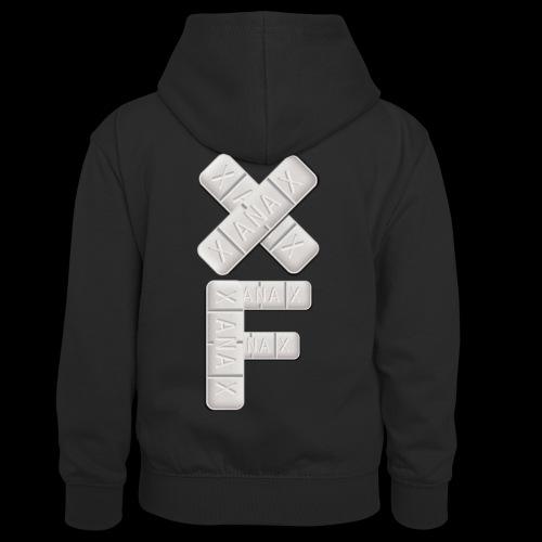 XF Xanax Logo - Kinder Kontrast-Hoodie
