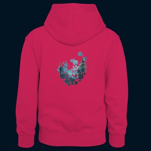 Camicia Flofames - Felpa con cappuccio in contrasto cromatico per bambini