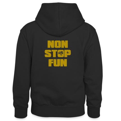 Non Stop Fun - Kinder Kontrast-Hoodie