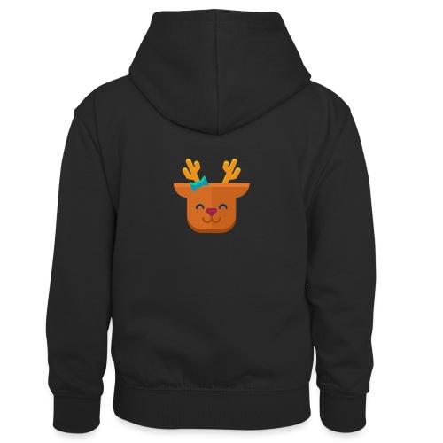 When Deers Smile by EmilyLife® - Kids' Contrast Hoodie